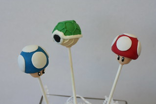 Mushroom and Turtle Shell Cake Pops | by Sweet Lauren Cakes