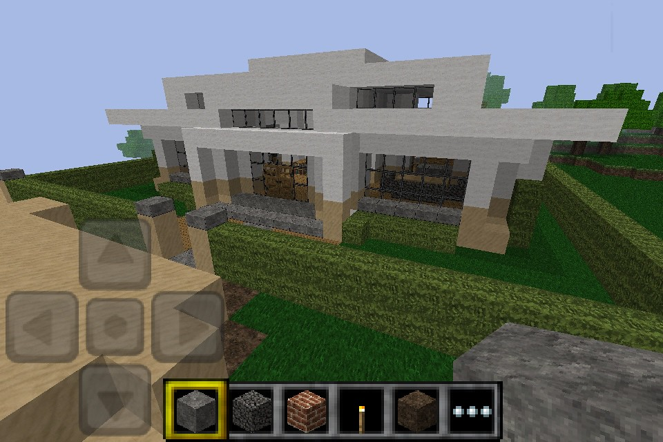 minecraft pe modern house ok so these where made on pe ForModern House Minecraft Pe