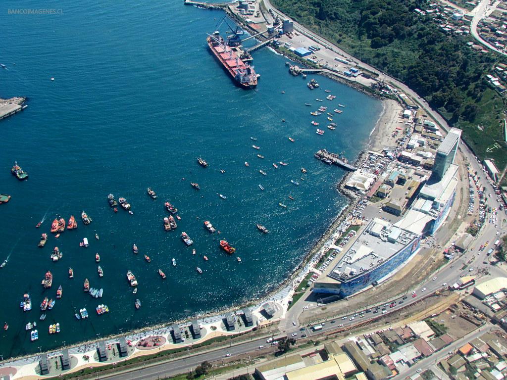 San Antonio Chile Vista Hacia El Mall Marina Arauco De