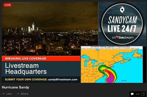 Sandycam - Hurricane Sandy Live 24/7 on Livestream | by stevegarfield