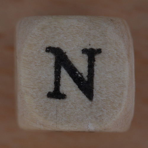 Wooden bead letter N | by Leo Reynolds