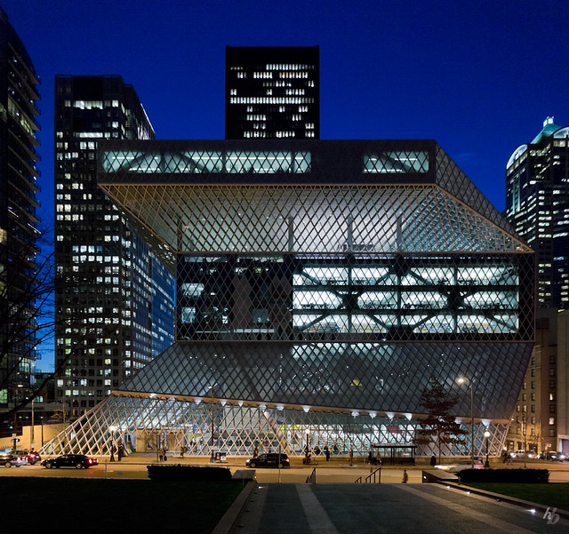 Seattle central public library flickr photo sharing - Office for metropolitan architecture oma ...