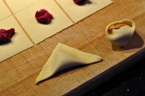 Tortellini med rødbeder og ricotta