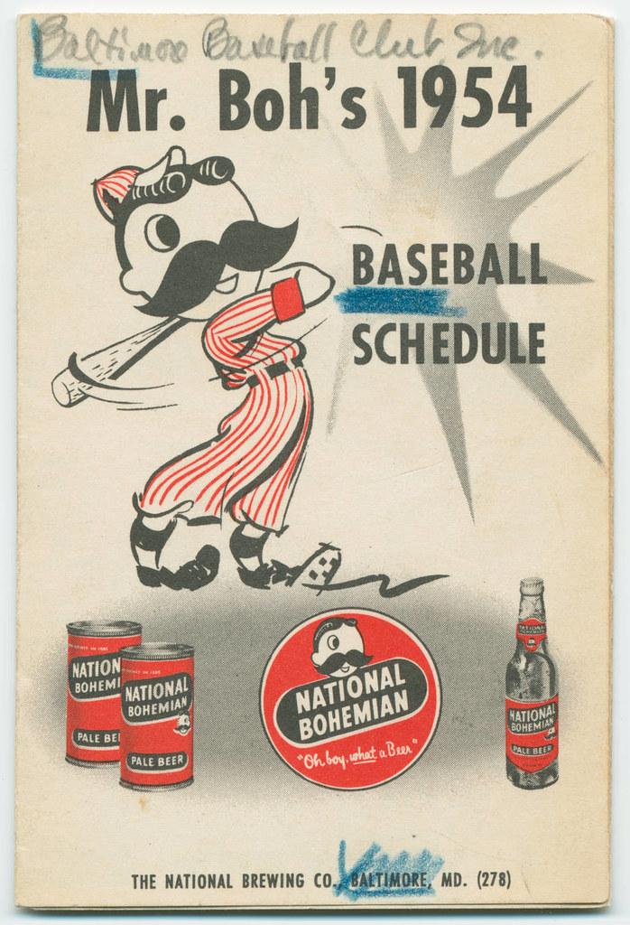 Mr boh s 1954 baseball schedule baltimore orioles and wa flickr