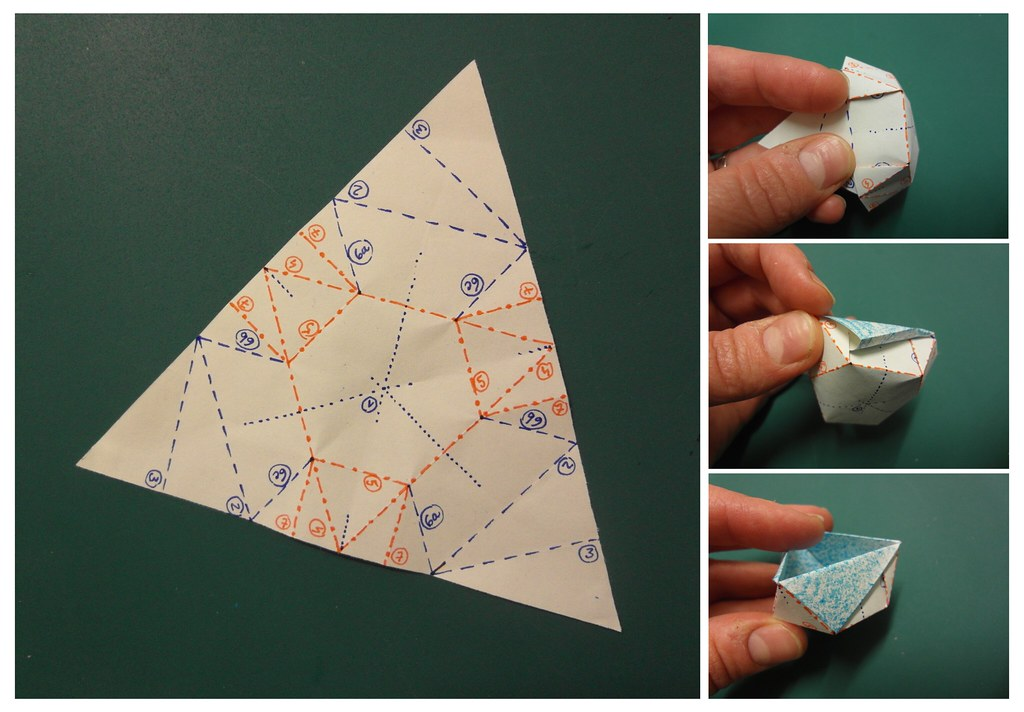 Коробочки треугольники из бумаги своими руками6