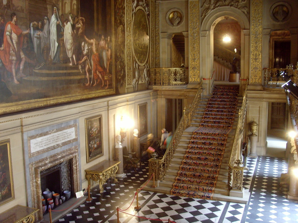 entrance hall to chatsworth house a real life downton abb flickr. Black Bedroom Furniture Sets. Home Design Ideas