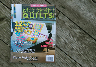 Modern Quilts Unlimited - Premier Issue, Fall 2012 | by Fresh Lemons : Faith