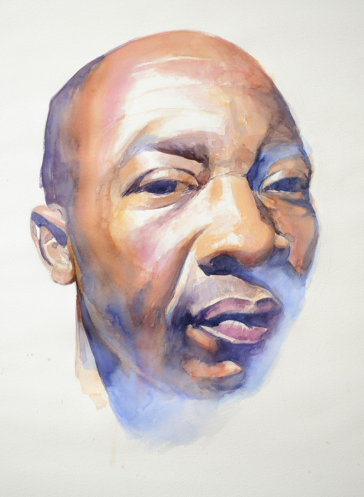 Watercolor portrait watercolor portrait fabriano for How to paint a portrait in watercolor