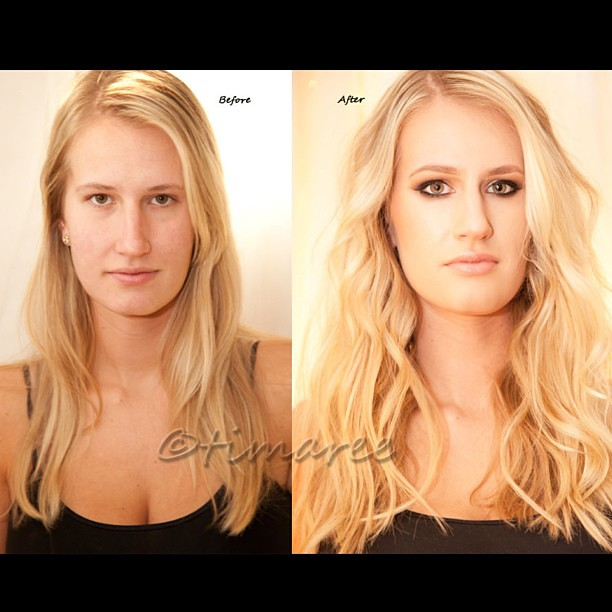 a simple before and after hair makeup photos and editi