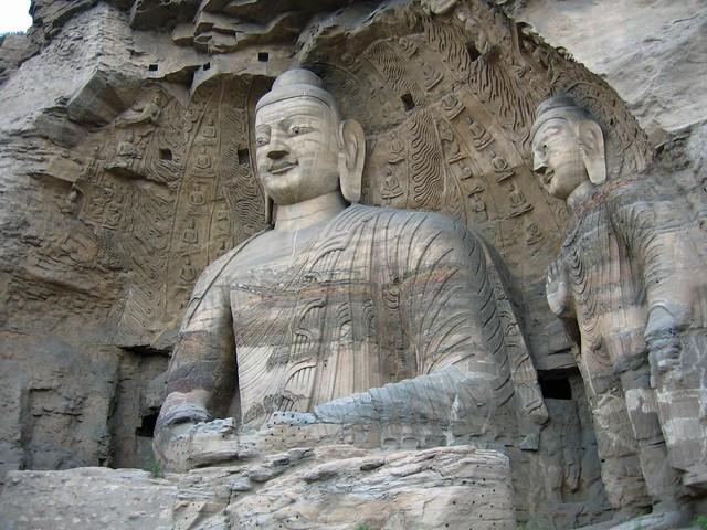 Buda de piedra de las Grutas de Yungang (Datong, China)