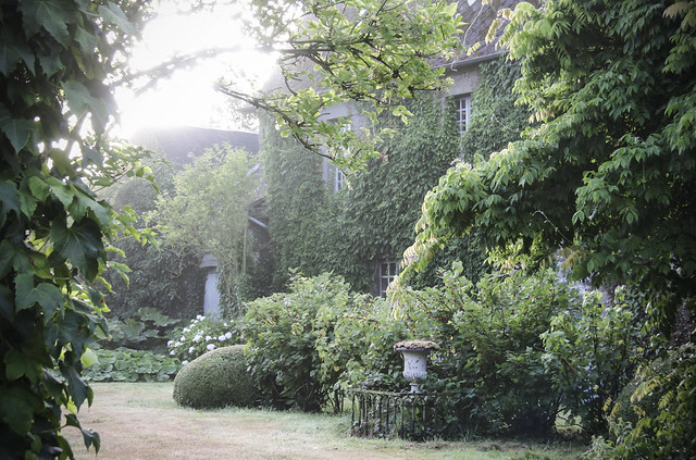 Le Chateau garden - foggy morning