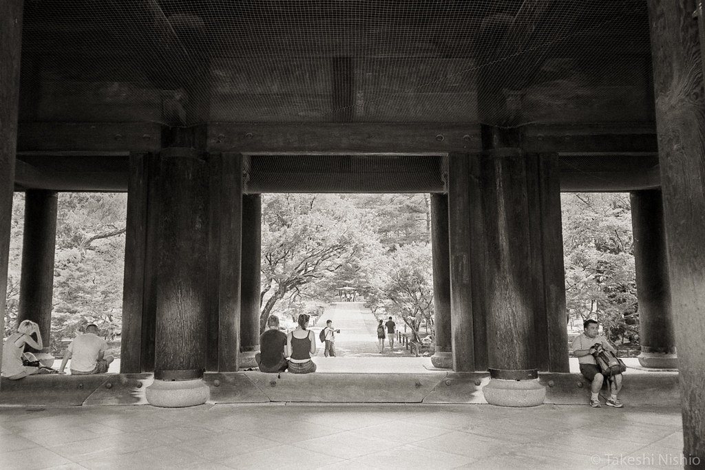 view from Sanmon gate