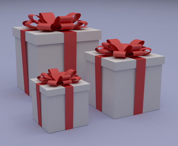 Gift Boxes | Gift Boxes modeled and rendered with Blender ...