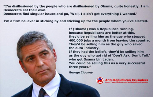 George Clooney in ad by Anti-Republican Crusaders | by Philip Munger