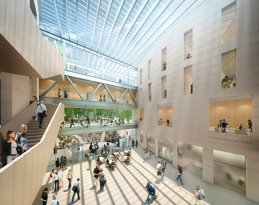 Sir zelman cowen school of music atrium monash for Interior design recruitment agencies chicago