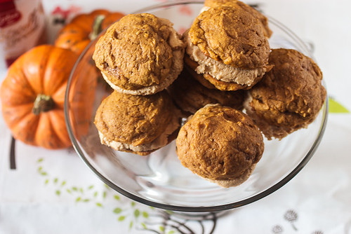 Pumpkin Whoopie Pies with Biscoff Cream | by LittleRedKitchen