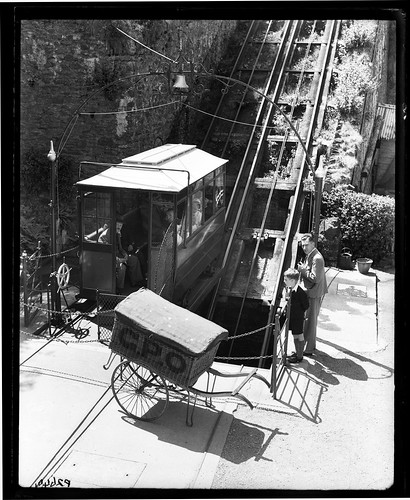 Lynmouth cliff railway and General Post Office trolley basket | by British Postal Museum & Archive