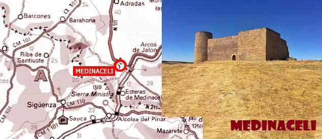 Mapa de situación de Medinaceli