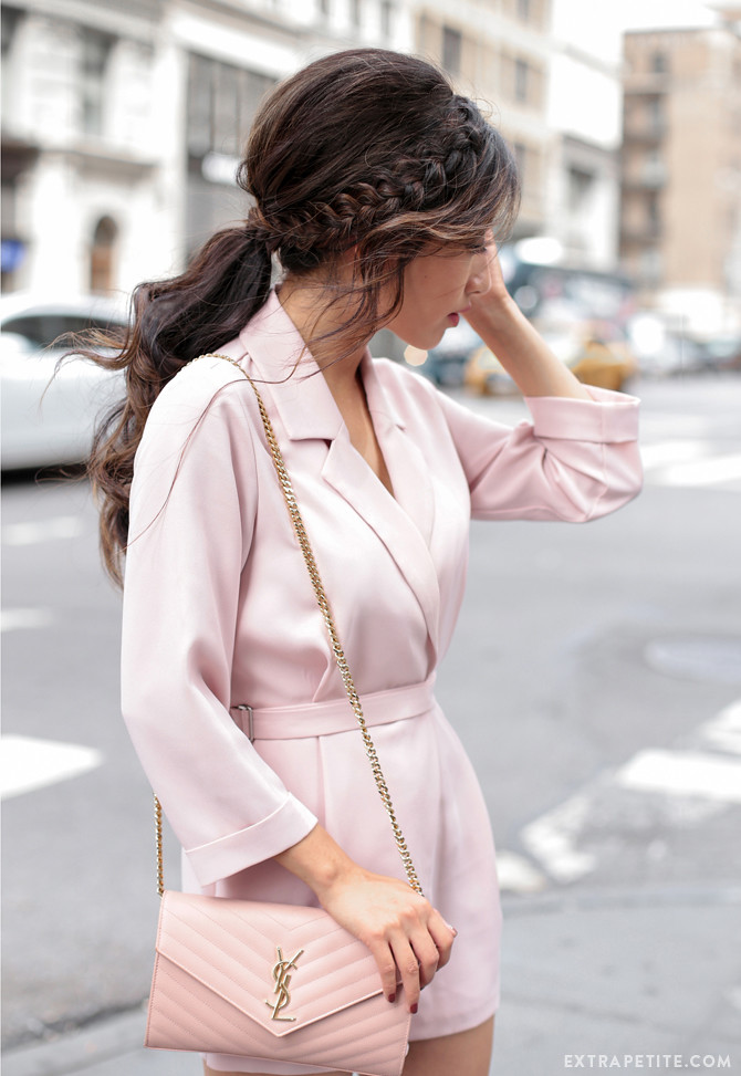 wavy braid ponytail tutorial topshop petite romper