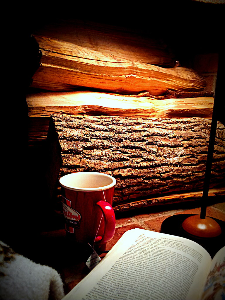 A good book and a good coffee by the fireplace made my day Flickr