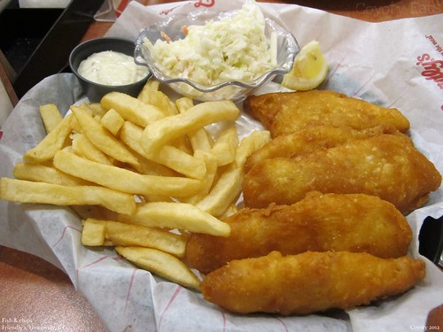 Friendly's New England Fish 'n' Chips | With cole slaw and ...