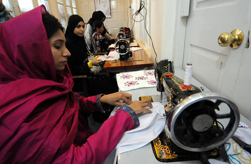 Students learn to operate the sewing machines | by World Bank Photo Collection