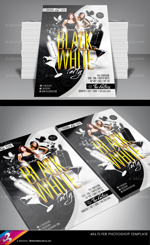 Black And White Flyer Template Download Fully Layered Phot Flickr