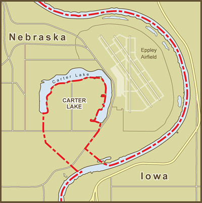 A Map Of The Border Between Nebraska And Iowa At Carter La Flickr - Map of iowa towns