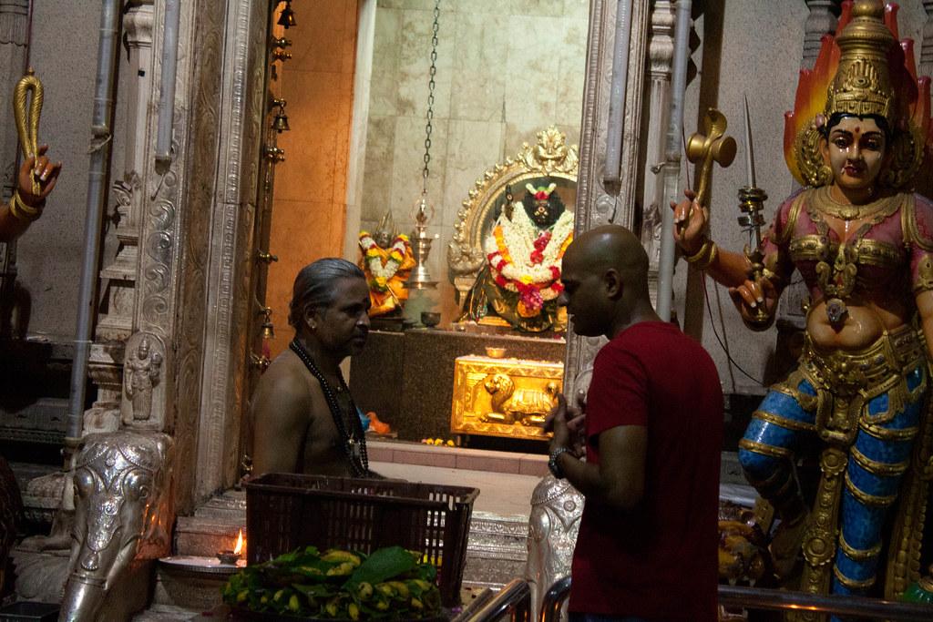 Inside the Hindu templ...