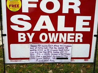 Reason for Sale: Can't Stand the Neighbors | by passiveaggressivenotes