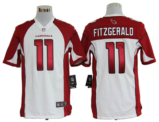 check out 26433 91e1f Larry Fitzgerald Jersey White Game Replica #11 Nike NFL Ar ...