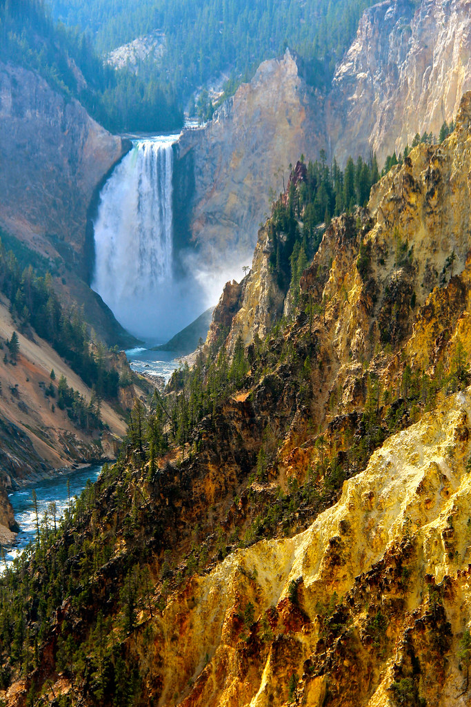 Oil Painting. By Ian Layzell | Yellowstone National Park ... First Photographs Of Yellowstone