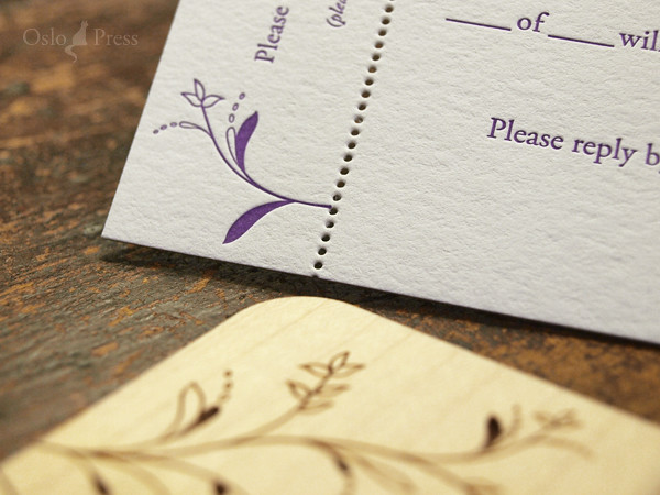 Whimsy Reply Card Perforated Letterpress Reply Card By Glenwood Flickr