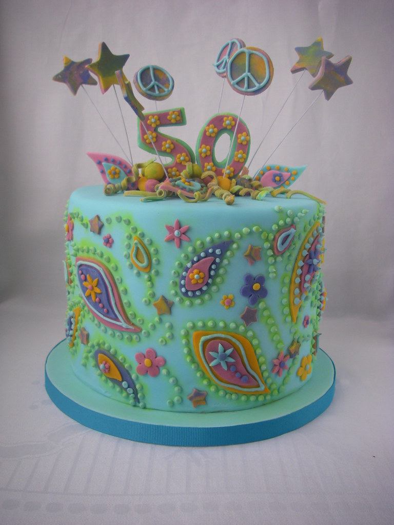 60 S Themed Cake I Was A Bit Lost Making This Cake