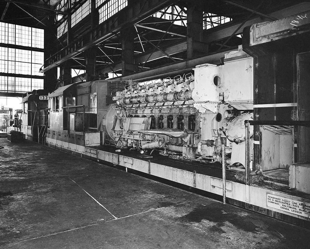 Seaboard Coast Line Ge U36b Locomotive 1846 Is Torn Dow