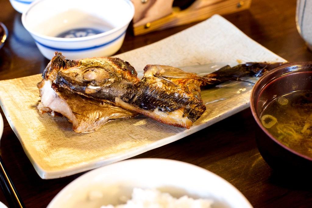 界 加賀 朝食 鯵の干物