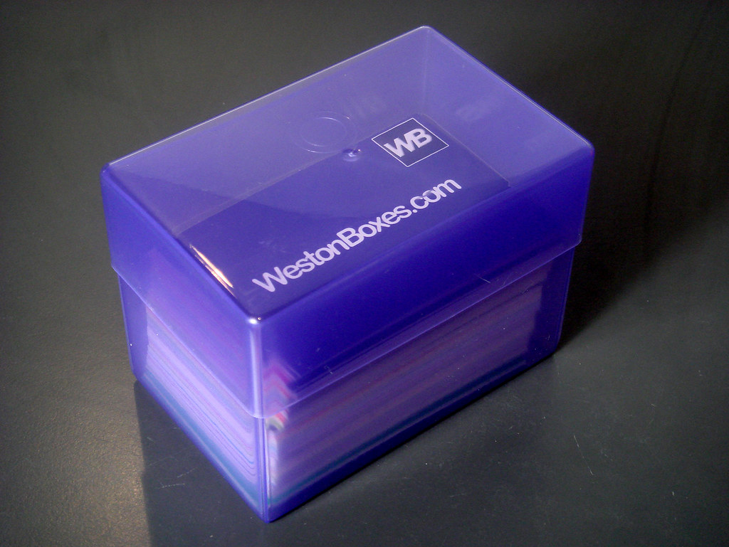 Purple Plastic Business Card Box - Holds 250 Business Card… | Flickr