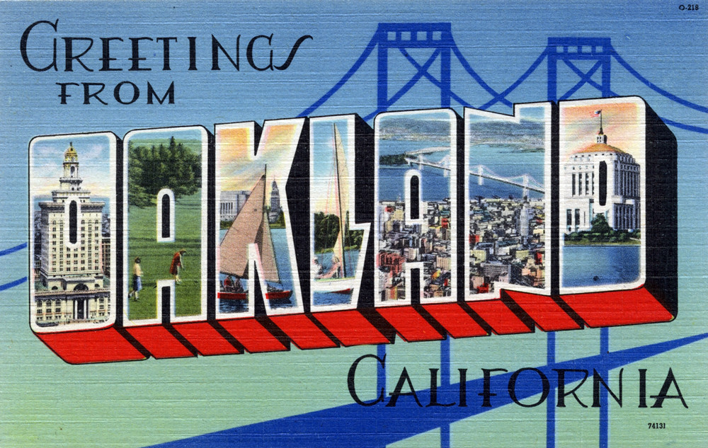 Greetings from oakland california large letter postcard flickr greetings from oakland california large letter postcard by shook photos m4hsunfo Gallery