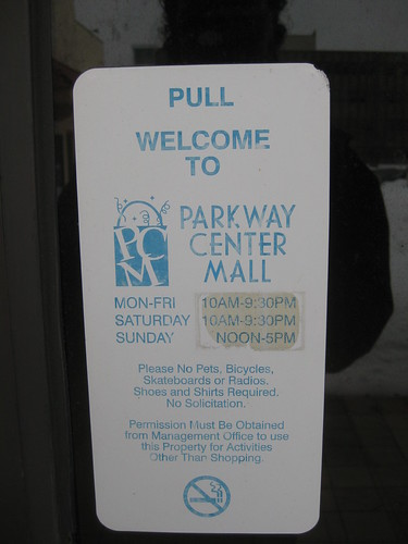 parkway center mall hours on locked door parkway. Black Bedroom Furniture Sets. Home Design Ideas