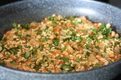 tomato-rice mixture...