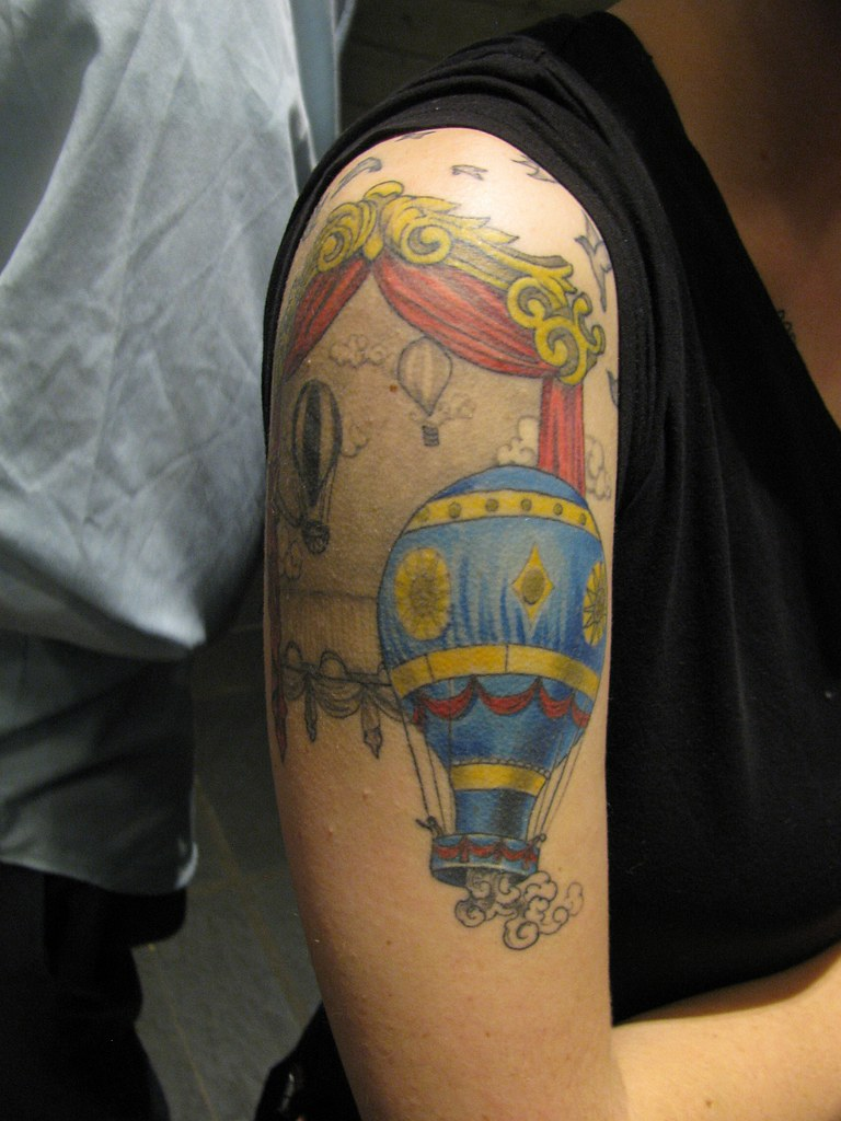 Hot Air Balloon Tattoo Thanks To Gnargnarnia Flickr