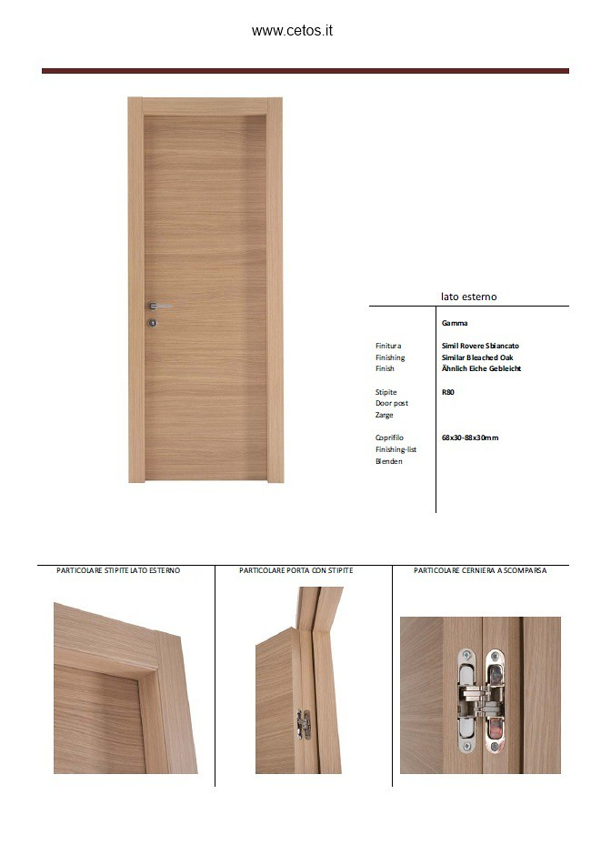 PORTE INTERNE IN LAMINATO | Porte interne in laminato con ce ...