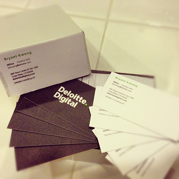Deloitte Digital Business Cards Are In Bryant Kwong