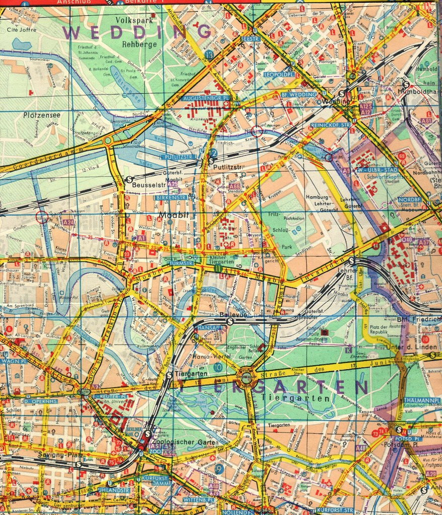 Map Of Part Of Divided Berlin From Falkplan Von Ber Flickr - Map of divided berlin