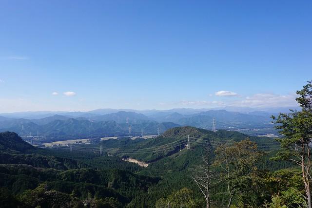 古賀志山から日光方面の眺め