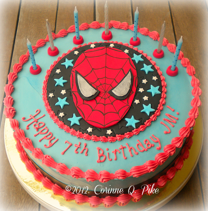 Spiderman 7th birthday cake pike.corinne Flickr