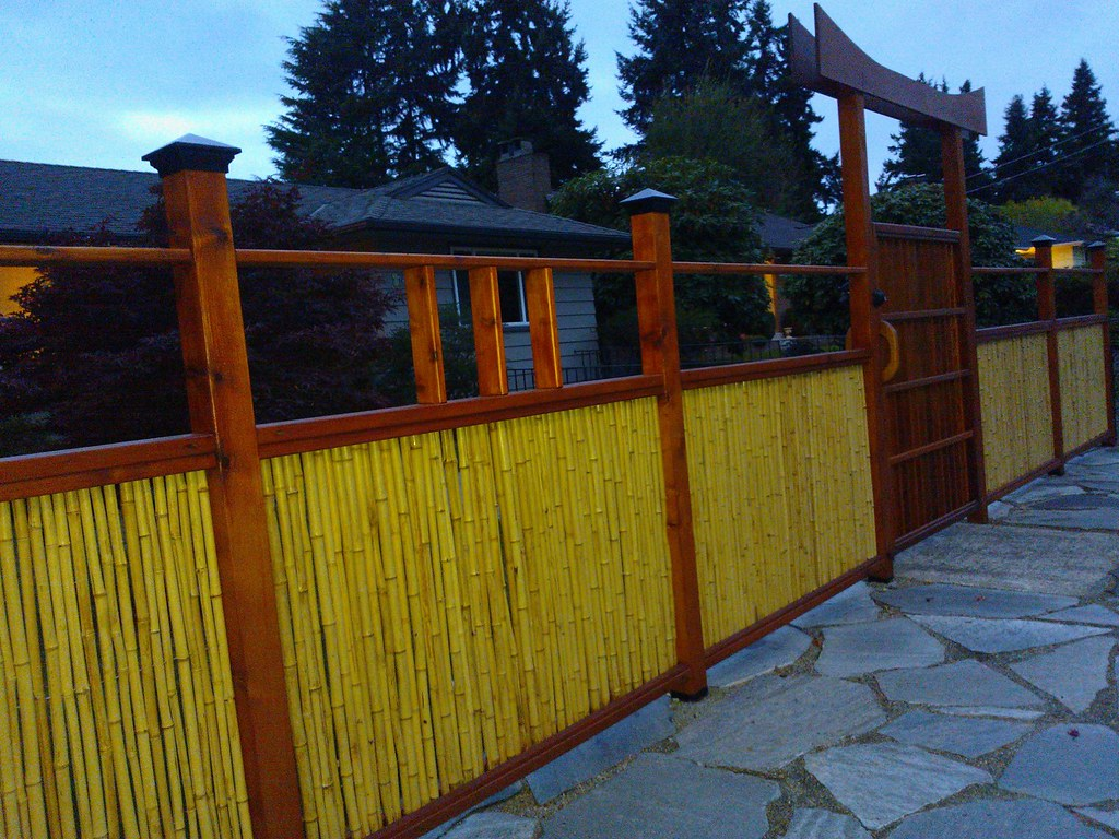 Handmade Japanese Shinto style bamboo fence and gate flag Flickr
