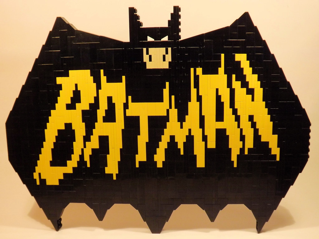 Vintage Batman Logo   Here is a small mosaic that I just wor…   Flickr