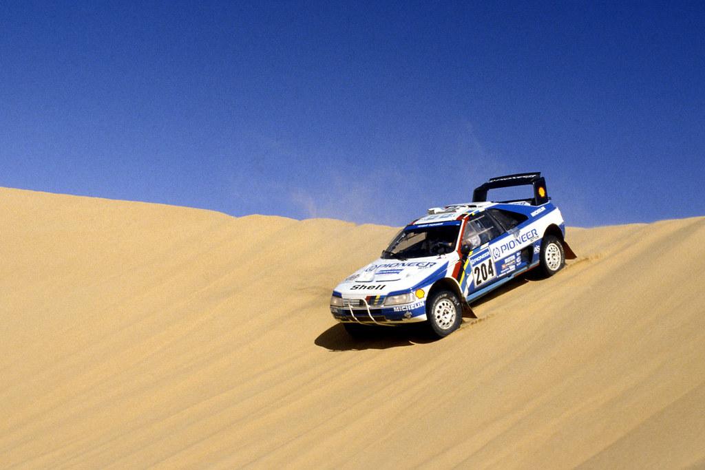 Peugeot 405 T16 Of Ari Vatanen At 1989 Dakar Rally Flickr