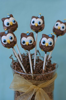 Party Owls Cake Pops | by Sweet Lauren Cakes